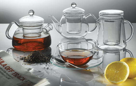 German Glass Duo Teapot